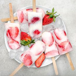 Strawberry Yoghurt Pops