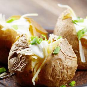 Cheesy Baked Potatoes - (GF, NF)