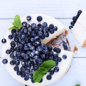 Unbaked Blueberry Cheesecake