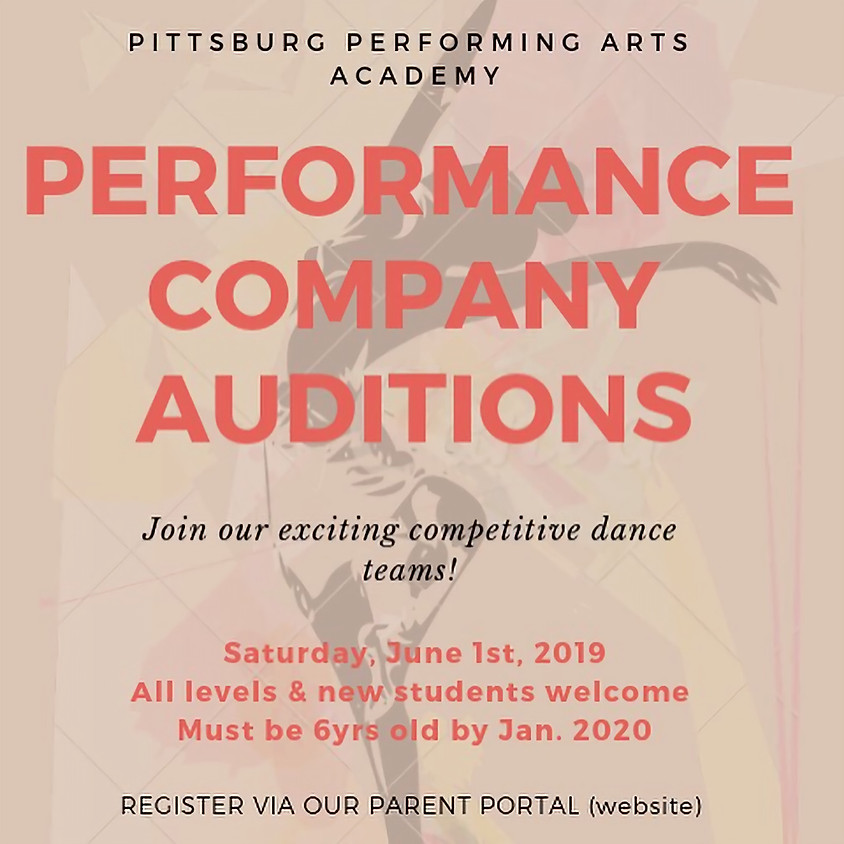 Performance Company Auditions 19-20 Season