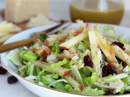 Cran-Apple Brussels Sprout Salad with Apple Cider Dijon Vinaigrette