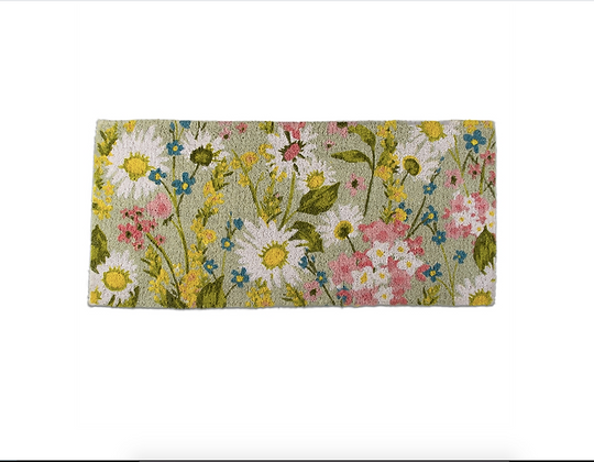 "Daisy Floral Estate Coir Mat 40x18"""
