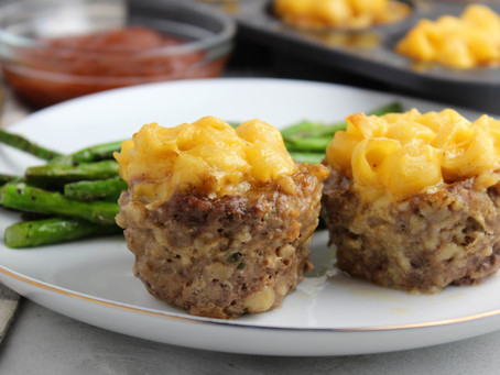 Smoked Cheddar Mac and Cheese Stuffed Meatloaf