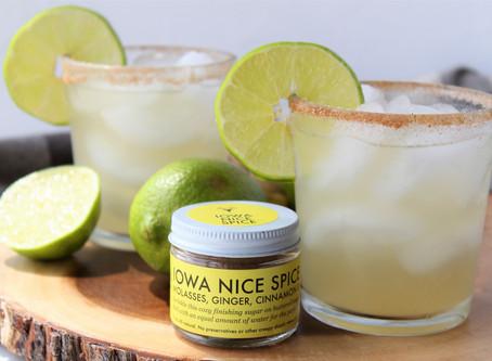 Iowa Nice Spice Ginger Lime Margaritas