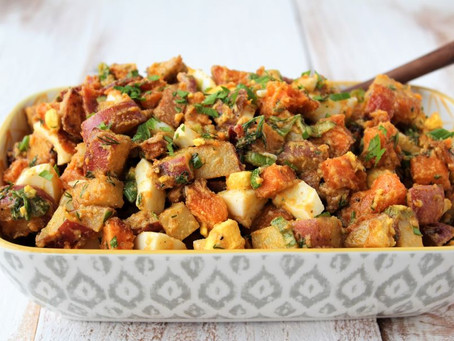 Mayo Free Loaded Sweet Potato Salad