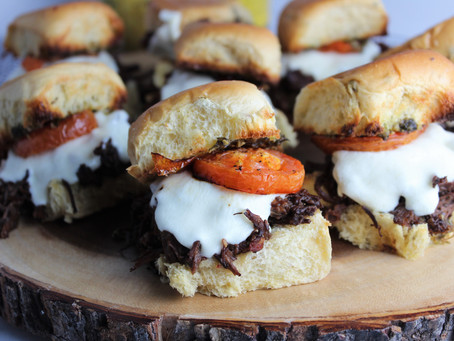 Italian Beef Sliders with Roasted Tomatoes
