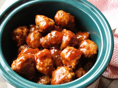 Honey Sriracha Garlic Meatballs