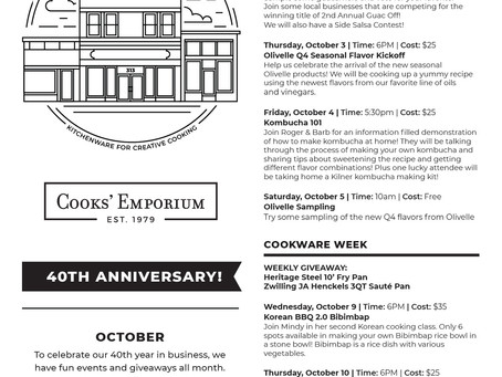40th Year in Business - October