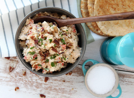 Chicken Salad with Red Bell Peppers and Pecans
