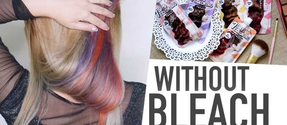 Without Bleach | ทำสีผมด้วย Missha 7 Days Coloring Hair Treatment