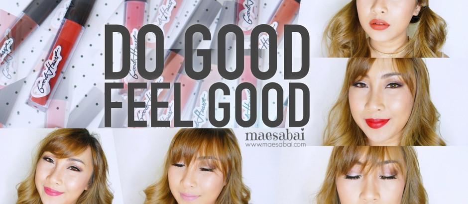 DO GOOD FEEL GOOD   รีวิวลิปสติก GOOD HEART ปากสวยเพื่อสังคม