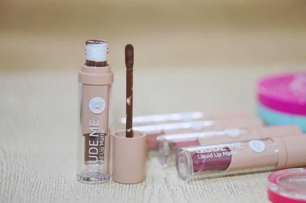 Nude Me รีวิว สวทอช์ Cathy Doll ลิปสติก Liquid Lipstick