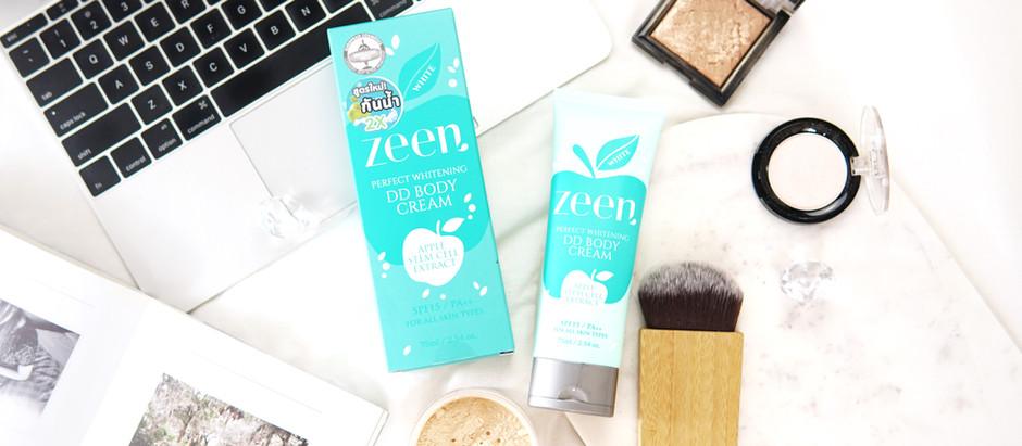 ทดลองเปลี่ยนสีผิวด้วย Zeen DD Body Cream