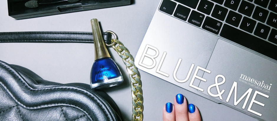 BLUE&ME | Golden Rose ยาทาเล็บสีน้ำเงินเมทัลลิค