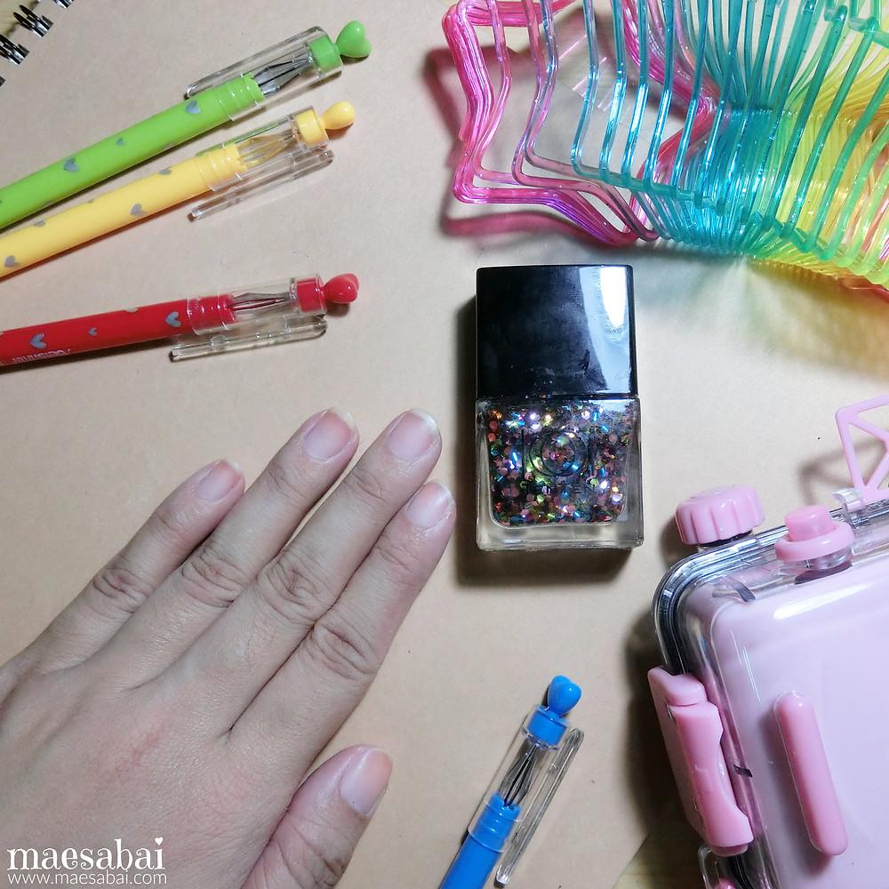 Rainbow Glitter Nails Beauty