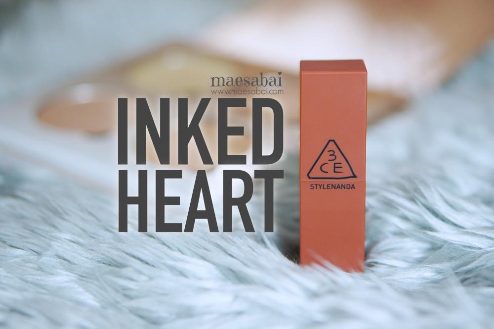 รีวิว เครื่องสำอาง ลิปสติก 3CE Inked Heart
