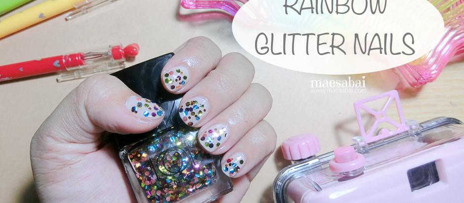 RAINBOW GLITTER NAILS | ไอเดียเล็บกลิตเตอร์จาก instagram