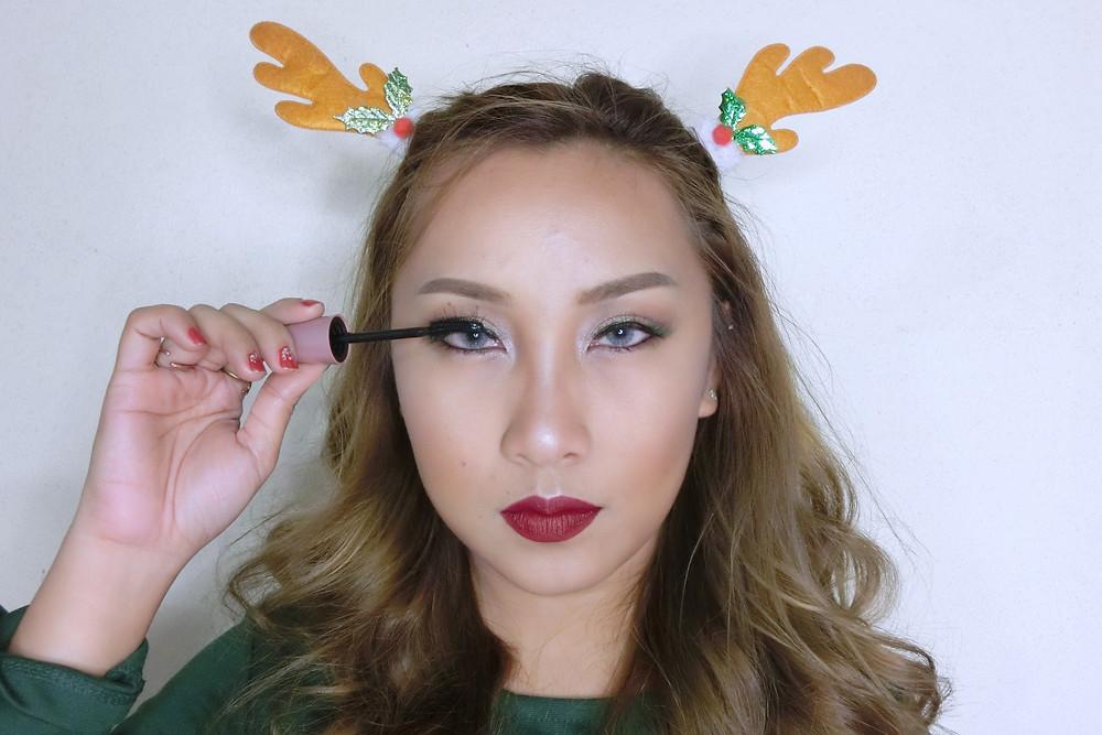 Christmas รีวิว ลิปสติก เครื่องสำอาง บิวตี้ บล็อกเกอร์ cosmetics แต่งหน้า Maybelline Lash Sensational Mascara