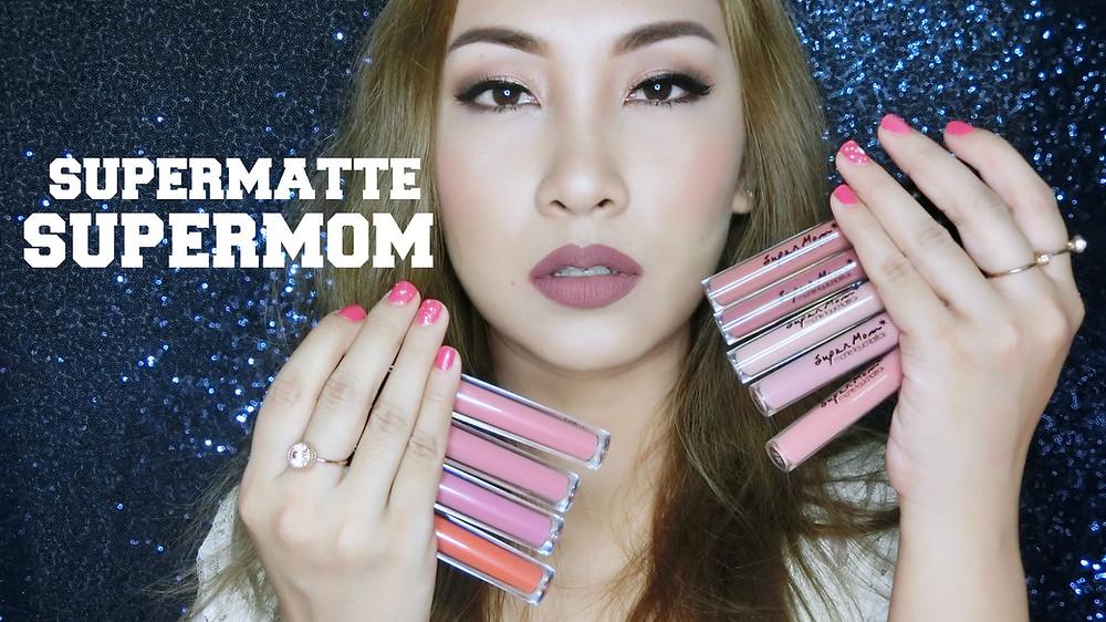 Supermom ลิปสติก เครื่องสำอาง cosmetics แต่งหน้า