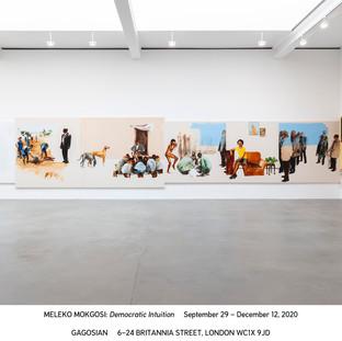 Installation view, Meleko Mokgosi: Democratic Intuition. Courtesy Gagosian Gallery