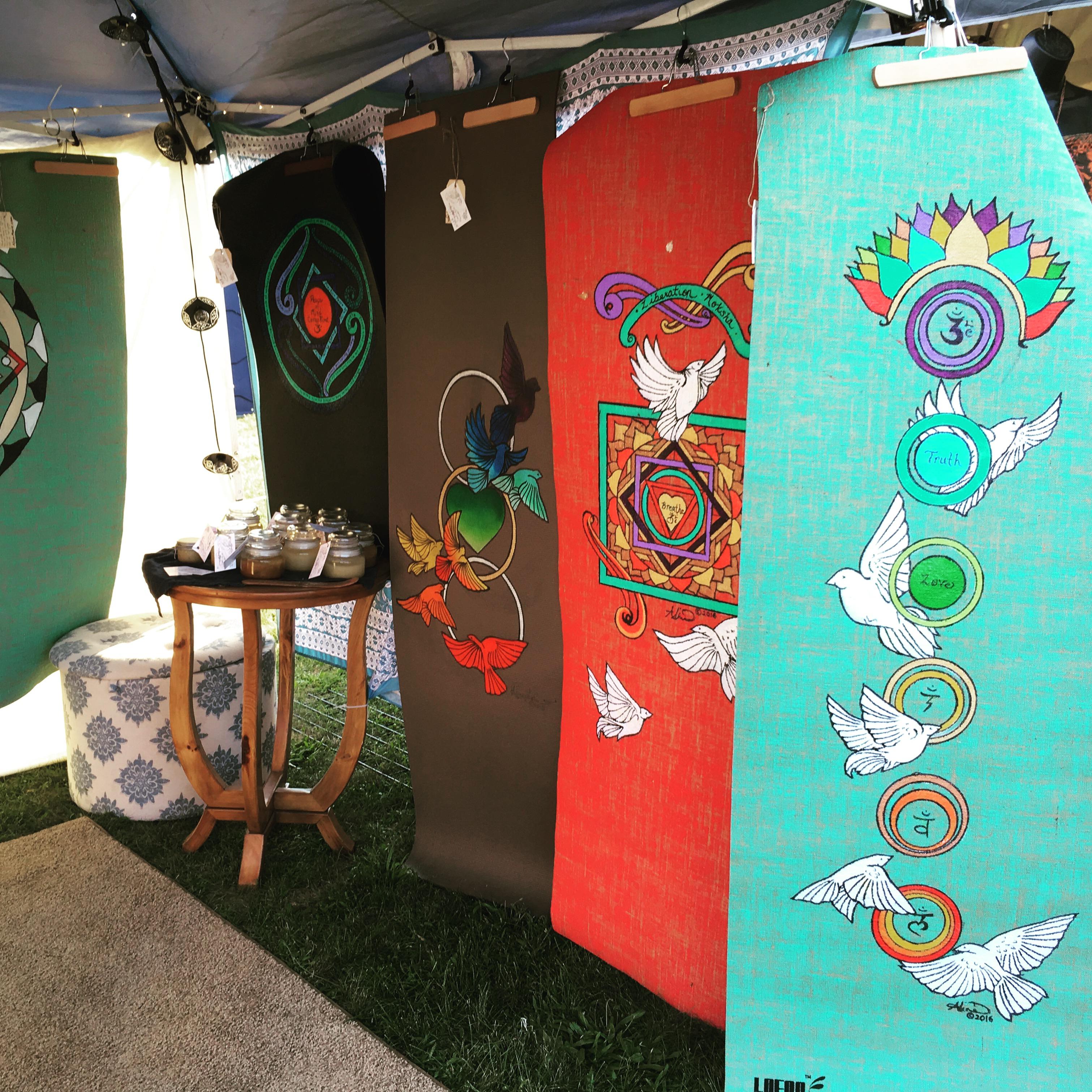 Aline Marie yogamats festival