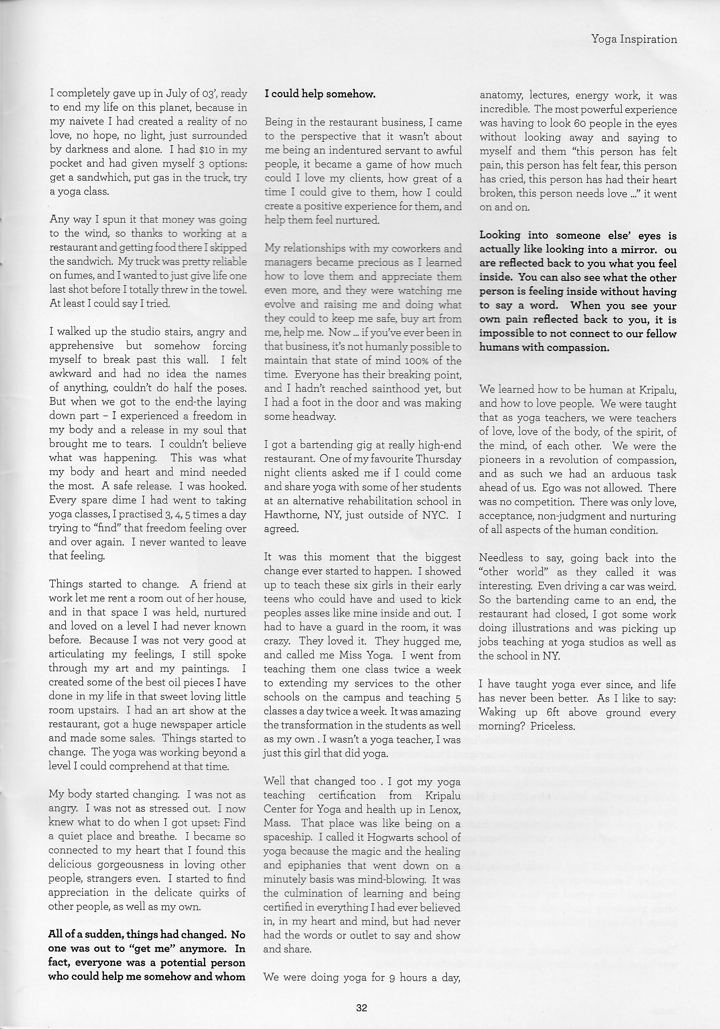 Asana yoga journal page 2