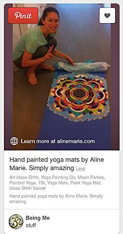 AlineMarie hand painted mat for Tara Stiles