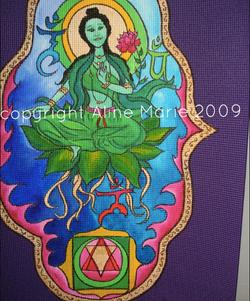 Aline Marie yogamat Green Tara