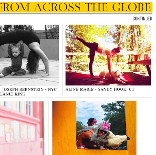 Aline featured in Mantra Yoga+Health
