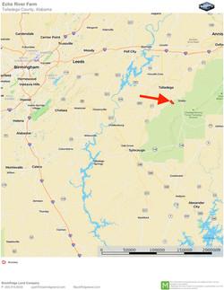 Echo River Farm Location Map