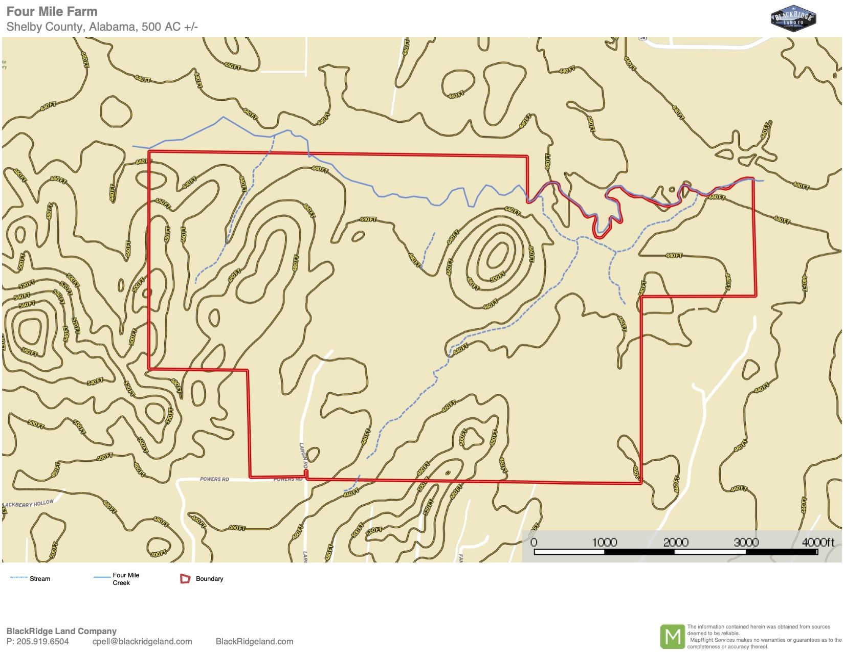Four Mile Farm TOPO Map