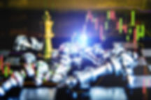 _Stock market data on digital LED displa