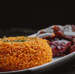 Smoked Lamb | Ntaba | & Jollof Rice