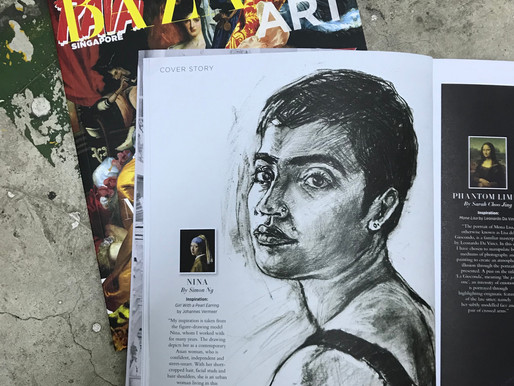 Featured in  Harper's Bizaar Art Singapore Cover Story - Mix Masters
