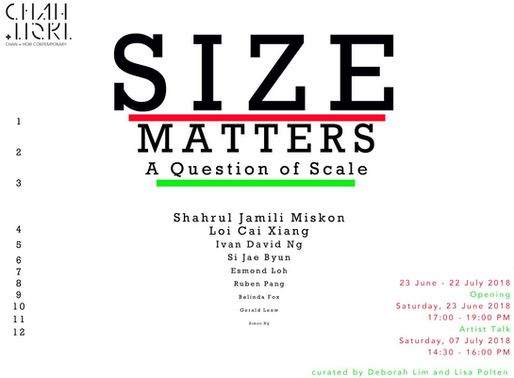 'Size Matters' Group exhibition opening from 5-7pm this Sat 23th June. See you there!