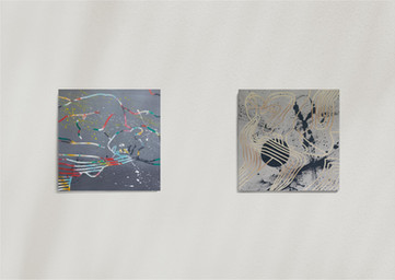 Dreamscape II, 2020 and Reclining Form (Gold), 2020.