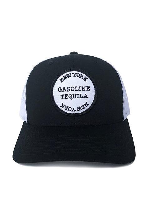 STAMP TRUCKER HAT - BLACK AND WHITE