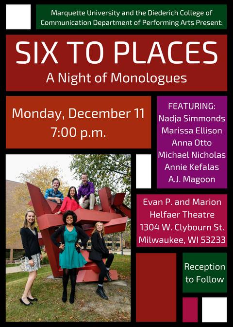 Six to Places Showcase Invitation