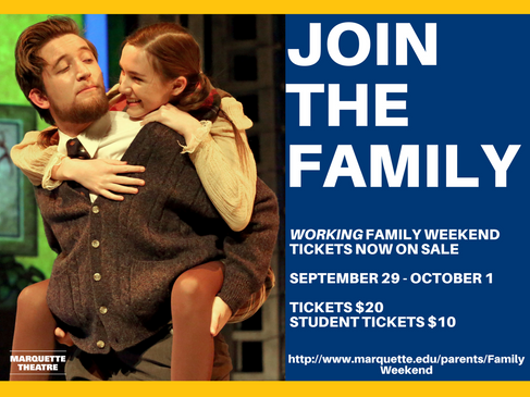 Marquette Theatre Family Weekend Facebook Ad