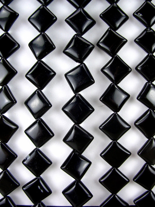 Obsidian Gemstone Beads 10mm Square