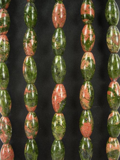 Unakite Gemstone Beads 16mm Rice