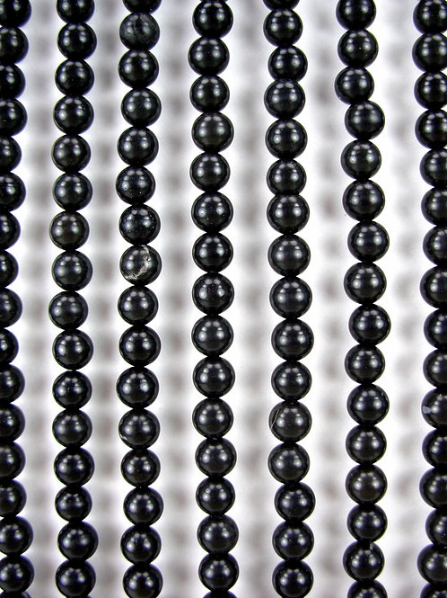 Obsidian Gemstone Beads 6mm Round