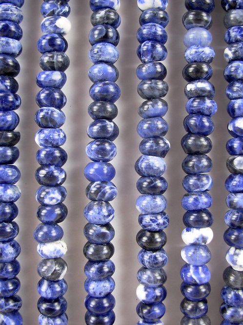 Sodalite Gemstone Beads 8mm Rondelle