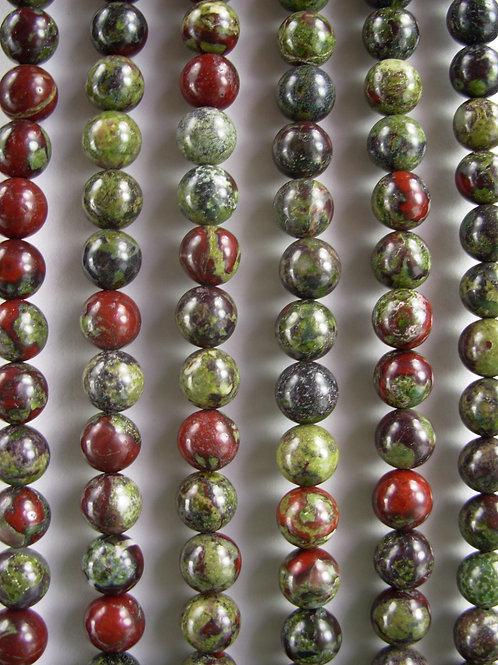 Dragon's Blood Jasper Gemstone Beads 8mm Round