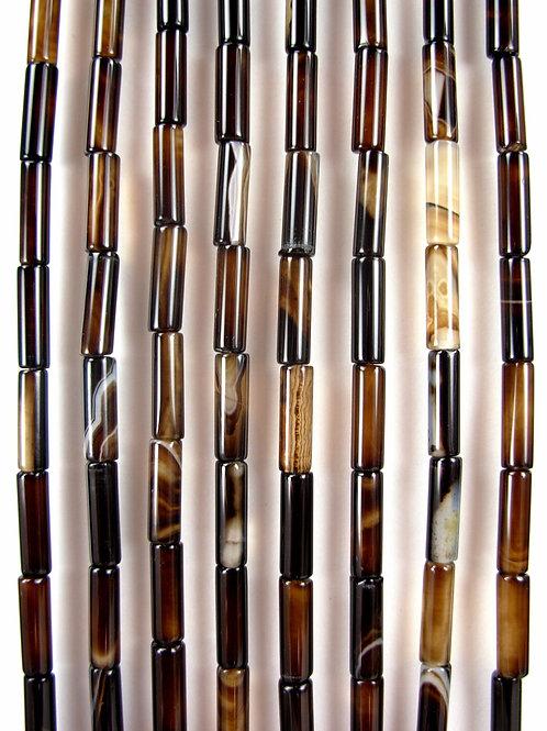Okapi' Agate Gemstone Beads 13mm Tube - $8.85
