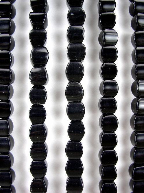 Obsidian Gemstone Beads 8mm Cushion