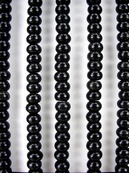 Obsidian Gemstone Beads 8mm Rondelle