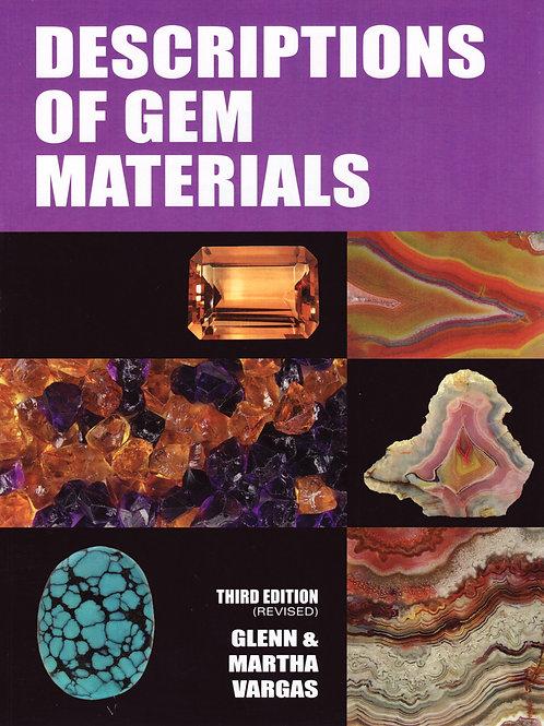 Descriptions of Gems and Materials.