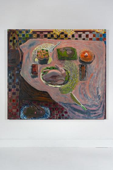 Harvest Hallow, 63 x 69.25, oil on canvas, 2021