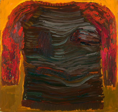 The Old Shirt I Threw Out, oil on canvas
